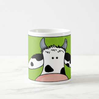 close up cow coffee mug