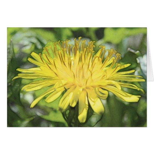 Close-Up Dandelion Flower Card