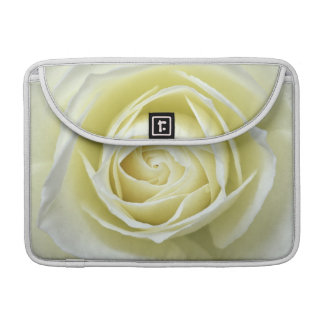 Close up details of white rose sleeves for MacBook pro