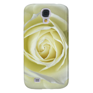 Close up details of white rose samsung galaxy s4 cover