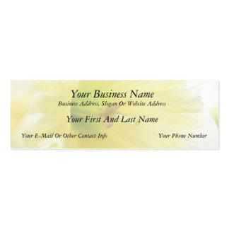Close Up - Elegant Daffodil Double-Sided Mini Business Cards (Pack Of 20)