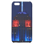 Close-up: Empire State Building in Blue & Red Case For iPhone 5C