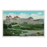 Close-up Exterior View of Mt. Washington Hotel Poster