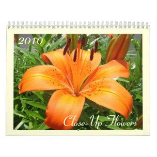 Close-Up Flowers Calendar
