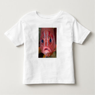 Close-up frontal view of colorful squirrelfish toddler t-shirt