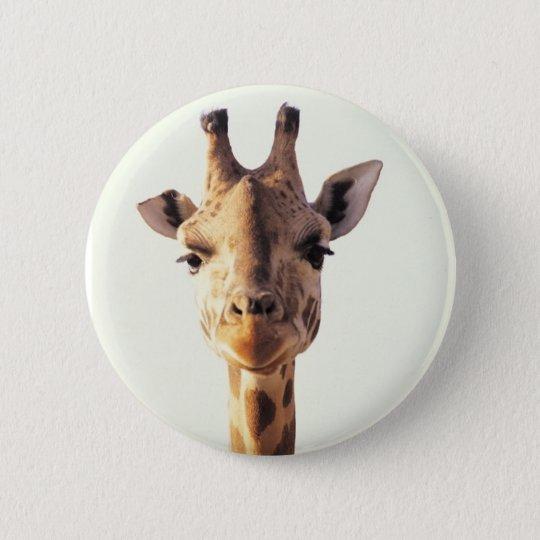 Close-Up Giraffe Pinback Button