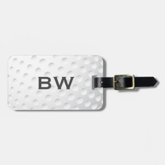 Close Up Golf Monogram Luggage Tag