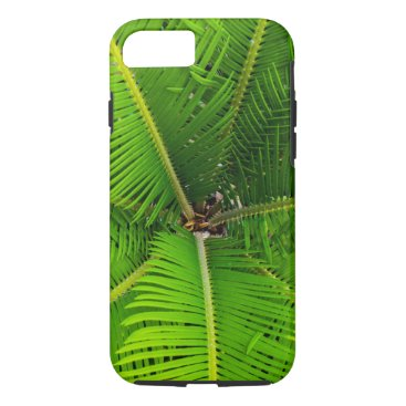 Beach Themed Close-up Green Palm Leaves iPhone 7 Case