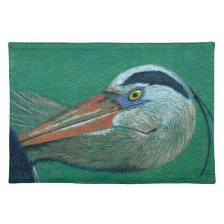 Close up Heron Cloth Placemat