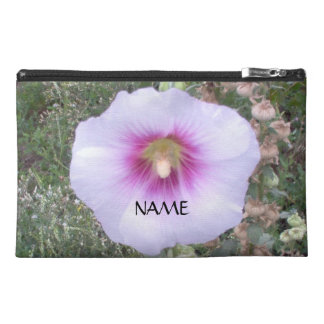 Close Up Hollyhock With Name Travel Accessories Bags