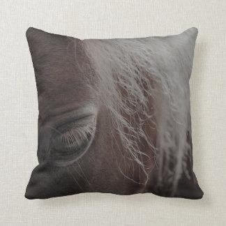 Close Up Horse Throw Pillow