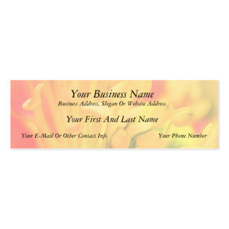 Close Up - Iceland Poppy Double-Sided Mini Business Cards (Pack Of 20)