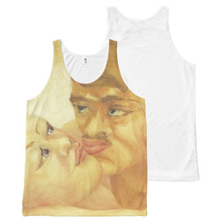 Close-Up (Kiss), D.H. Lawrence Fine Art All-Over Print Tank Top