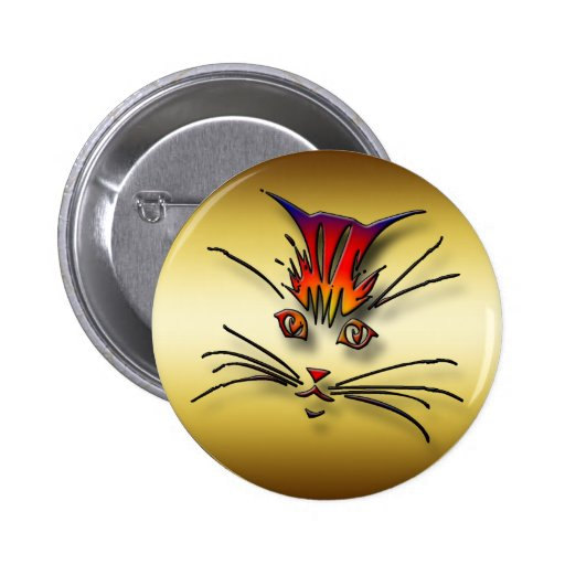 CLOSE-UP KITTY CAT FACE BUTTON