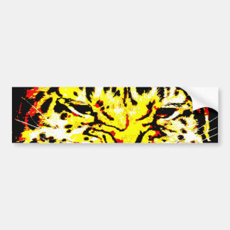 Close-up Leopard Eyes Bumper Sticker
