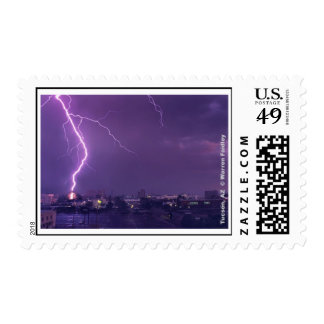 Close-up Lightning Strike Postage