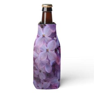 close up lilacs bottle cooler