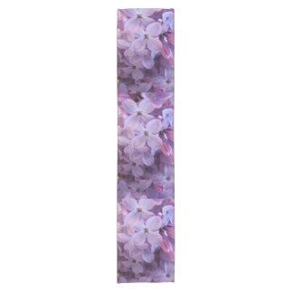 close up lilacs short table runner