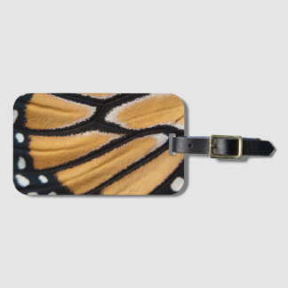 Close up monarch wing photo luggage tag