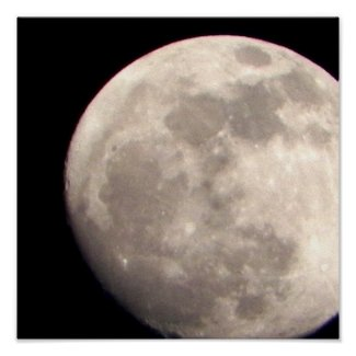 Close up Moon Picture print