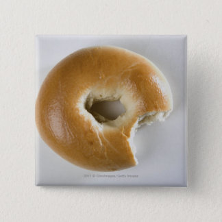 Close-up of a bagel button