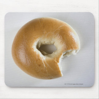 Close-up of a bagel mouse pad