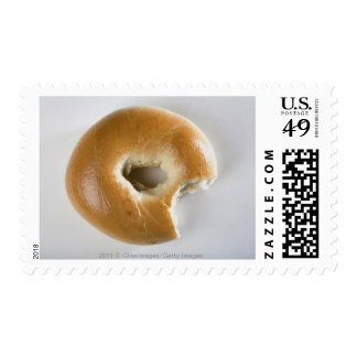 Close-up of a bagel stamp
