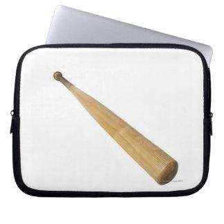 Close up of a baseball bat computer sleeves