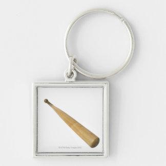 Close up of a baseball bat keychain