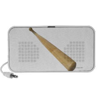 Close up of a baseball bat speaker system
