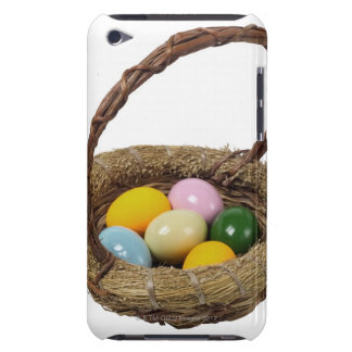 Close up of a basket with colorful eggs iPod touch cover