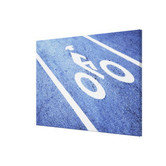 Close-up of a bicycle sign on the road
