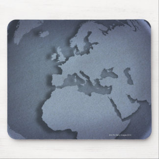 Close-up of a blue globe showing North Africa, Mouse Pad