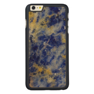Close up of a Blue Sodalite Carved Maple iPhone 6 Plus Case