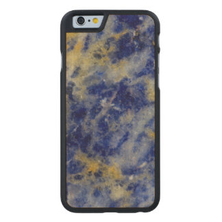 Close up of a Blue Sodalite Carved Maple iPhone 6 Slim Case