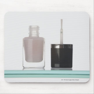 Close-up of a bottle of nail polish mouse pad
