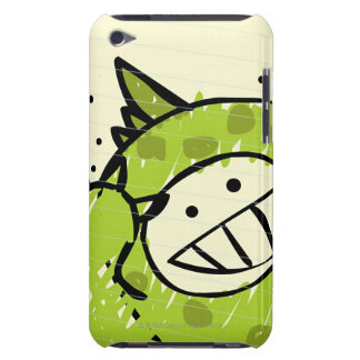 Close-up of a boy smiling in a dragon costume barely there iPod case