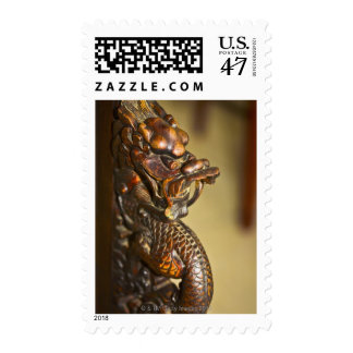 Close-up of a Chinese dragon statue, HohHot, Postage