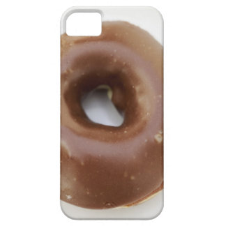 Close-up of a chocolate doughnut on a plate iPhone SE/5/5s case
