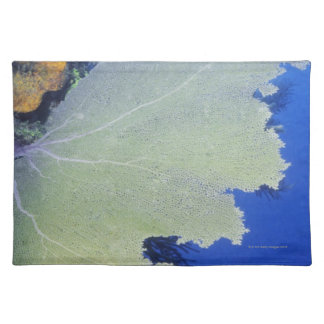 Close-up of a Common Sea Fan Cloth Placemat