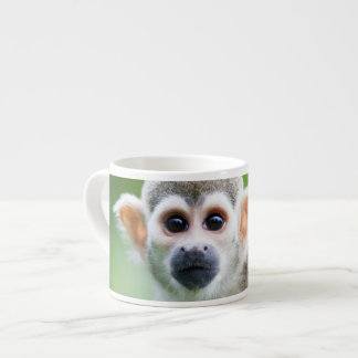 Close-up of a Common Squirrel Monkey Espresso Cup