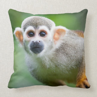 Close-up of a Common Squirrel Monkey Pillow