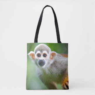 Close-up of a Common Squirrel Monkey Tote Bag