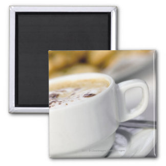 Close-up of a cup of coffee refrigerator magnet