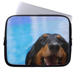 Close-up of a Dachshund dog panting Computer Sleeve