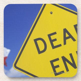 Close-up of a dead end sign, Texas, USA Coaster