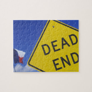 Close-up of a dead end sign, Texas, USA Jigsaw Puzzle