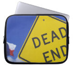Close-up of a dead end sign, Texas, USA Laptop Sleeve