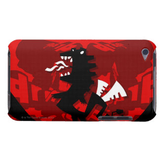 Close-up of a dragon with text iPod touch covers