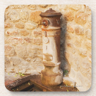 Close-up of a faucet, Siena Province, Tuscany, 2 Drink Coasters